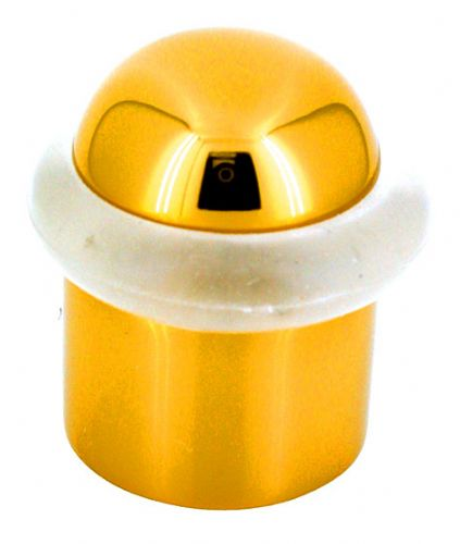 Domed Door Stops - Brass Finish